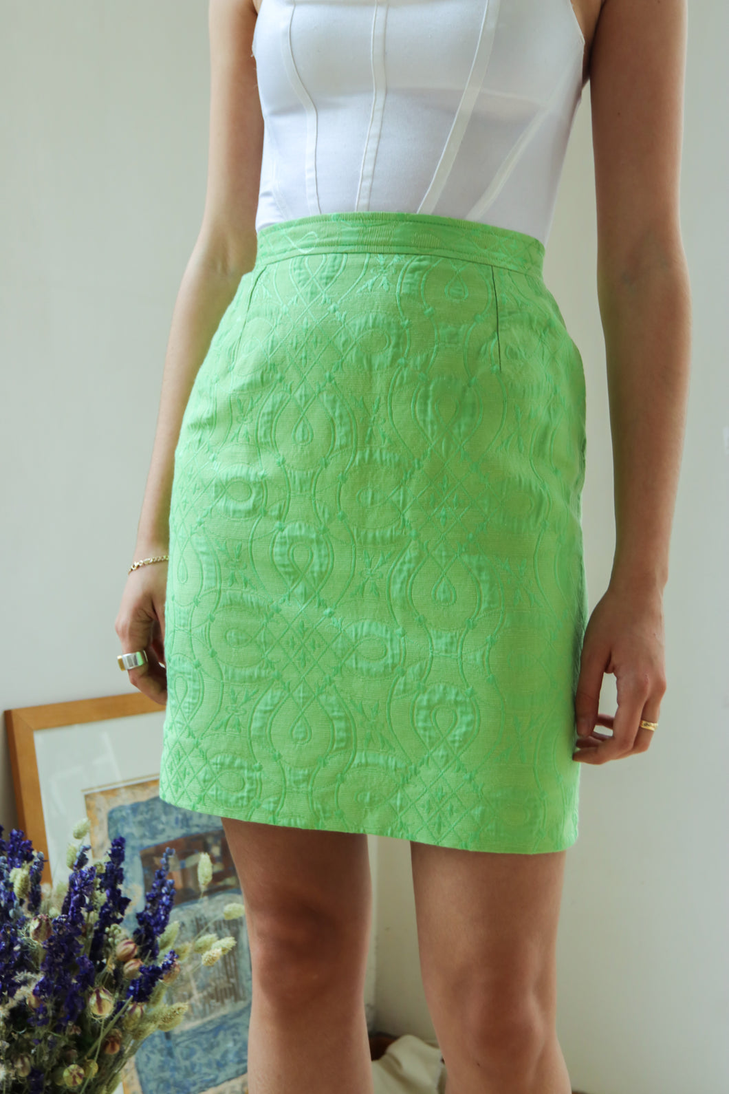 Valentino Lime Skirt