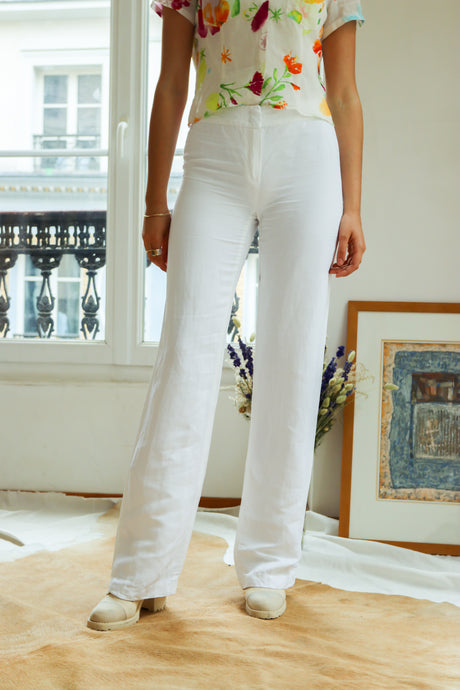 Escada Linen and Silk Trousers
