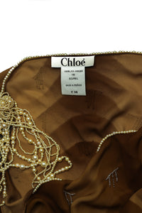 Chloé Silk and Pearly Top