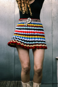 1960 Hand knitted Mini Skirt