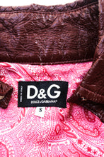 Load image into Gallery viewer, Dolce Gabbana Denim & Vinyl Jacket