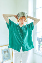 Load image into Gallery viewer, Green Pure Silk Shirt