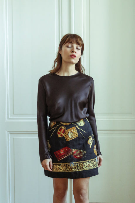 Renato Nucci Silk Mini Skirt