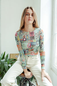 Hommage to Picasso Mesh Top