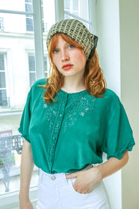 Green Pure Silk Shirt