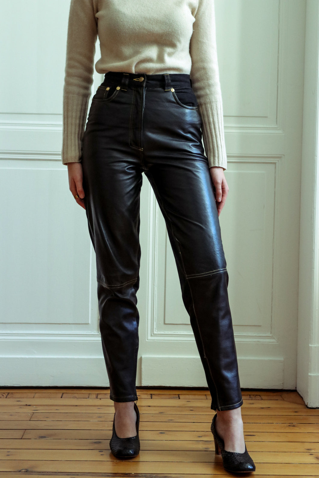 Gianni Versace Leather Pants