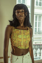 Load image into Gallery viewer, Helena Sorel Crop Silk Bustier