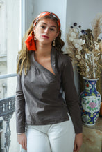 Load image into Gallery viewer, Agnès b Asymmetrical Blouse