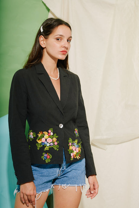 Moschino Embroidered Blazer