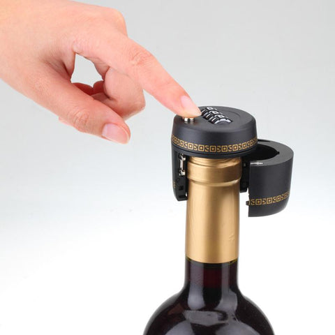 Bottle Password Lock Combination Lock Wine Stopper Vacuum Plug Device Preservation For Furniture Hardware - dealsonbox