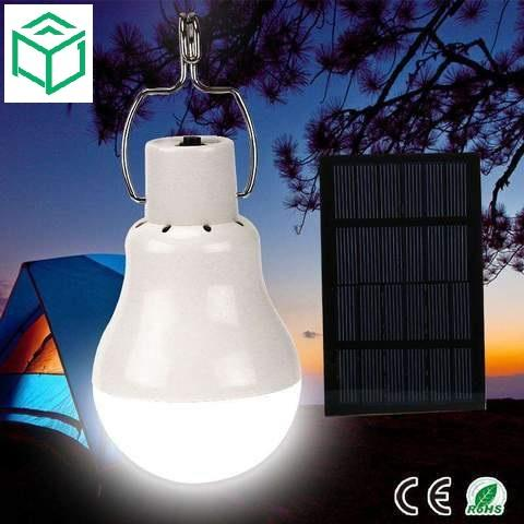 Rechargeable Solar Powered Camping LED Bulb