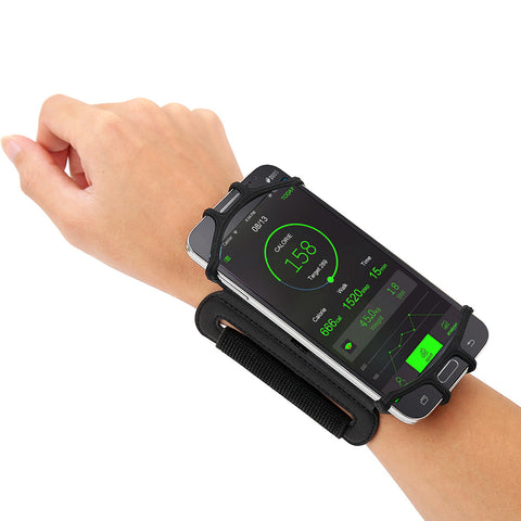 Running Armband 180° Rotatable w/ Key Holder Phone Armband Hiking Biking Walking - dealsonbox