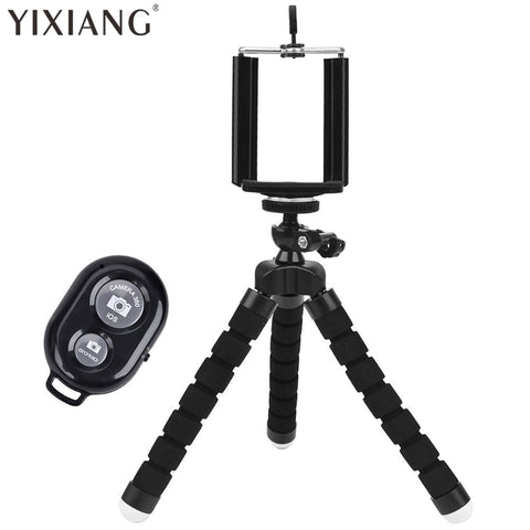 YIXIANG Universal Compact Tripod Stand - Remote Included - Flexible Octopus Cell Phone Camera Selfie Stick Tripod Mount - dealsonbox