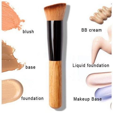 2018 Makeup brushes Powder Concealer Powder Blush Liquid Foundation Face Make up Brush Tools Professional Beauty Cosmetics-in Eye Shadow Applicator from Beauty & Health