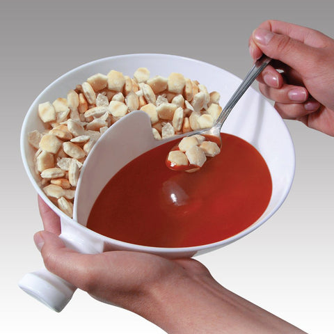 Creative Handle Separated Bowl With Handle Home Isolated Bowl With Snack Separated Bowl Snack Bowl Cereal - dealsonbox