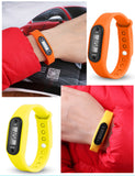 Run Step Watch Bracelet Pedometer Calorie Counter Digital LCD Walking Distance - dealsonbox