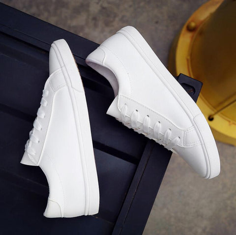 2016 New Spring and Summer With White Shoes Women Flat Leather Canvas Shoes Female White Board Shoes Casual Shoes Female-in Women's Vulcanize Shoes from Shoes