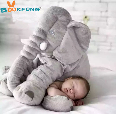 BOOKFONG 40/60cm Infant Plush Elephant Soft Appease Elephant Playmate Calm Doll Baby Toy Elephant Pillow Plush Toys Stuffed Doll - dealsonbox