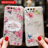 Case For Huawei P8 P9 P10 P20 Lite Nova 2 Plus 3E Honor 9 Lite 6X 7X 3D Relief Soft TPU Flowers Cell Phone Cases Coque - dealsonbox