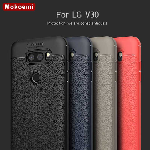 "Mokoemi Fashion Lichee Pattern Shock Proof Soft 6.0""For LG V30 Case For LG V30 Plus Cell Phone Case Cover - dealsonbox"