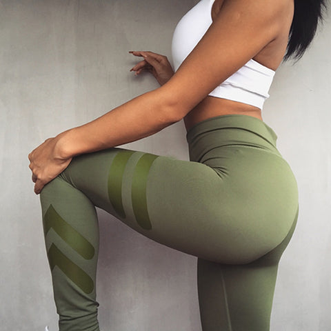 3 Colors Army Green Sporting Leggings Clothing For Women's - dealsonbox