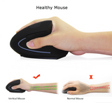 Wireless Mouse Ergonomic Optical 2.4G - dealsonbox