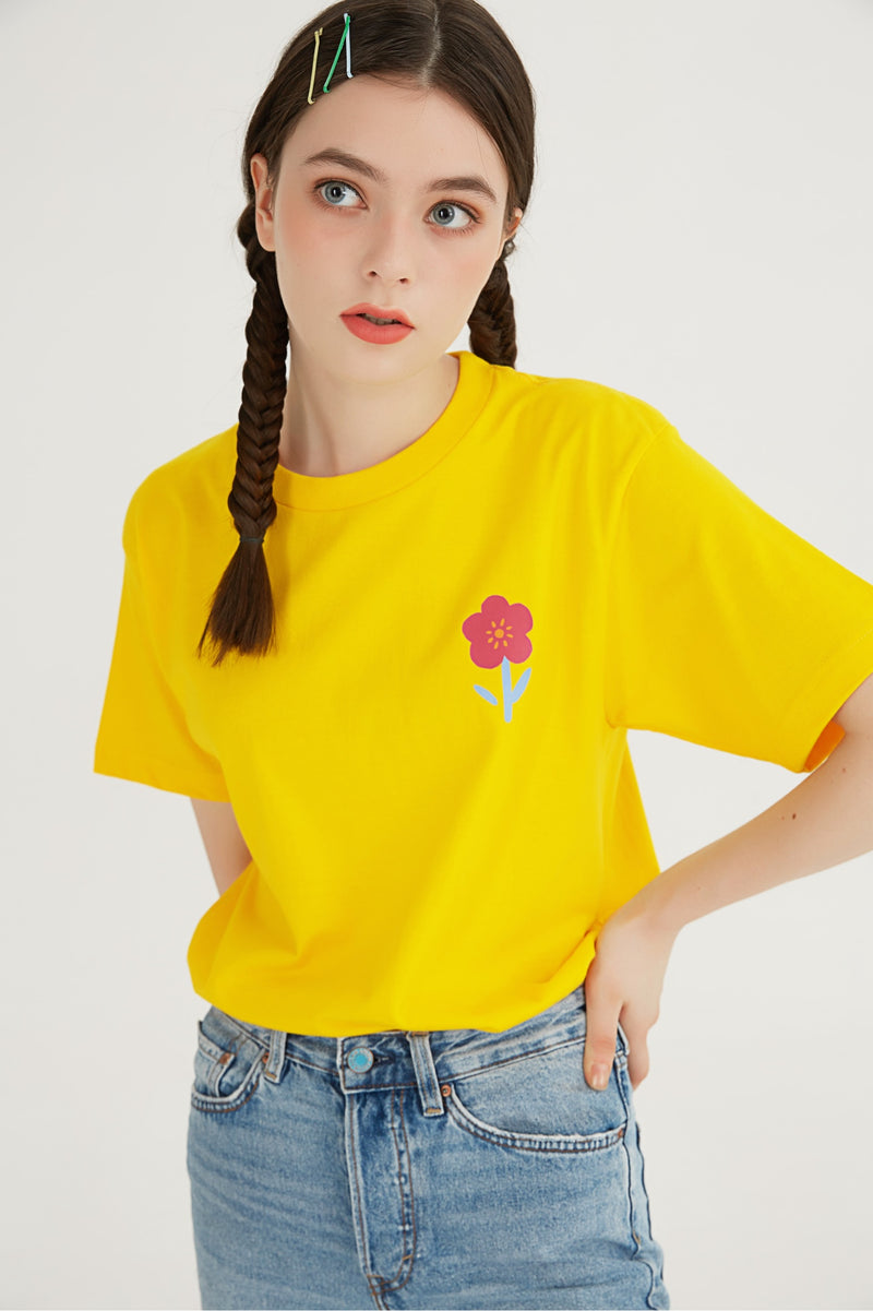 Flower T-Shirt - Yellow