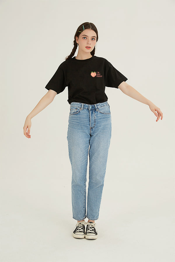 Peachy T-SHIRT - BLACK