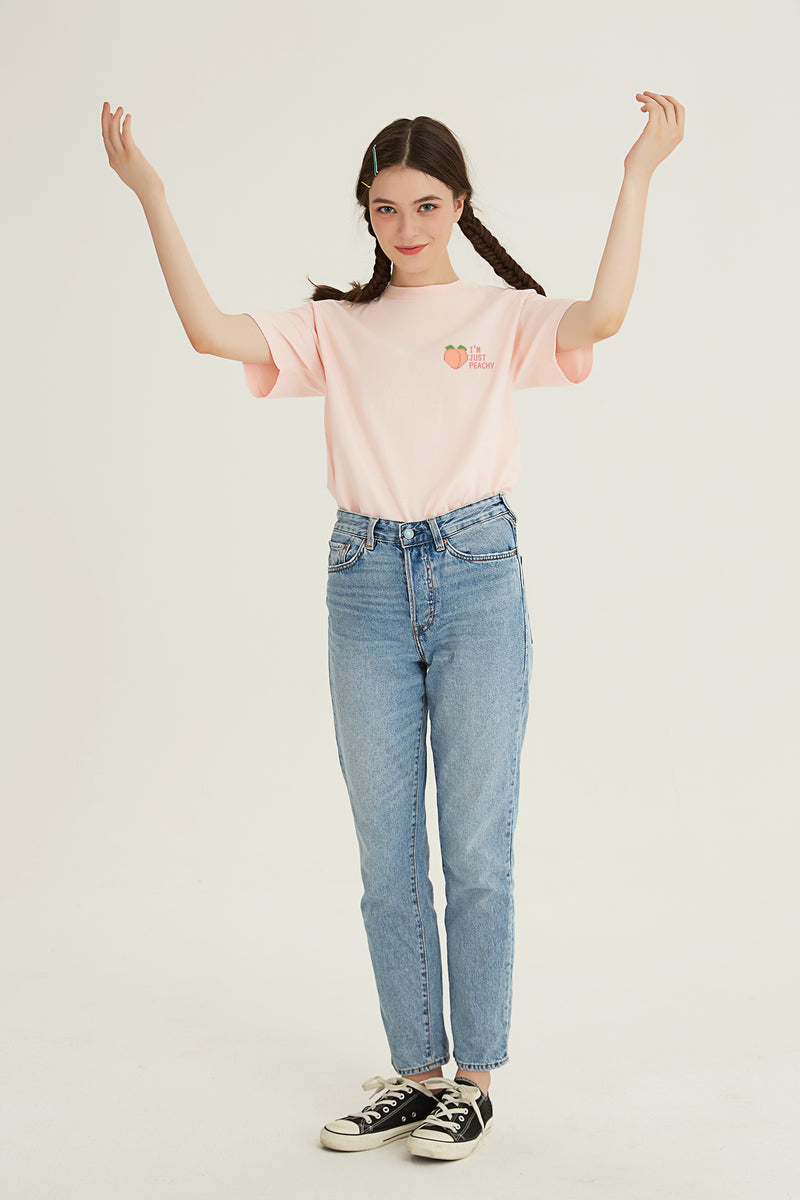 Peachy T-SHIRT - LIGHT PINK