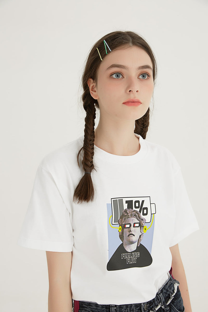 Feeling Flat T-Shirt - White