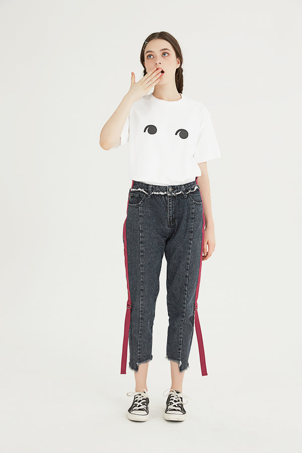 Peep Eye T-Shirt - White