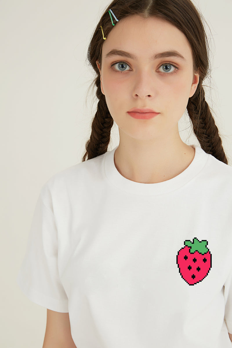 Your Strawberry T-SHIRT - WHITE
