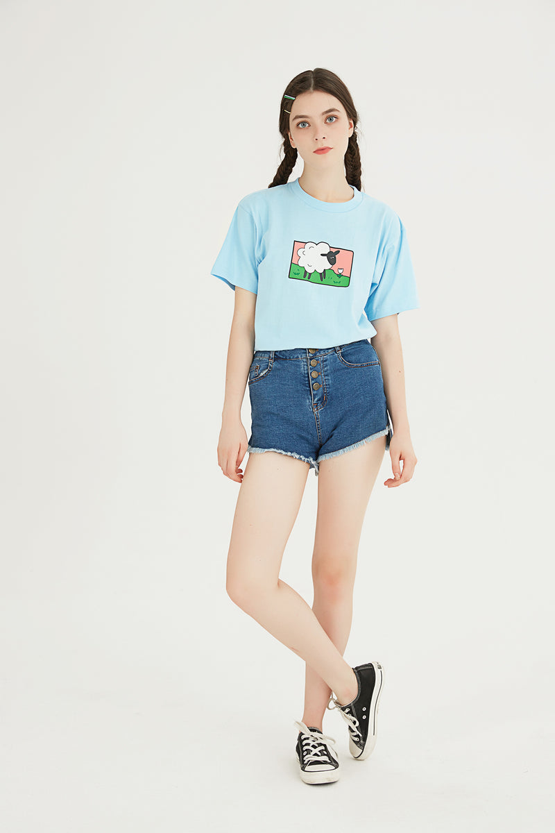 Sheep T-Shirt - Sky Blue