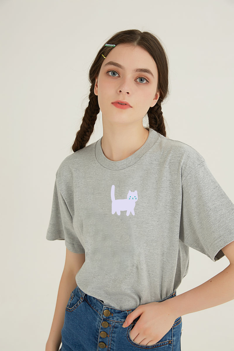 Hi Cat T-Shirt - GREY