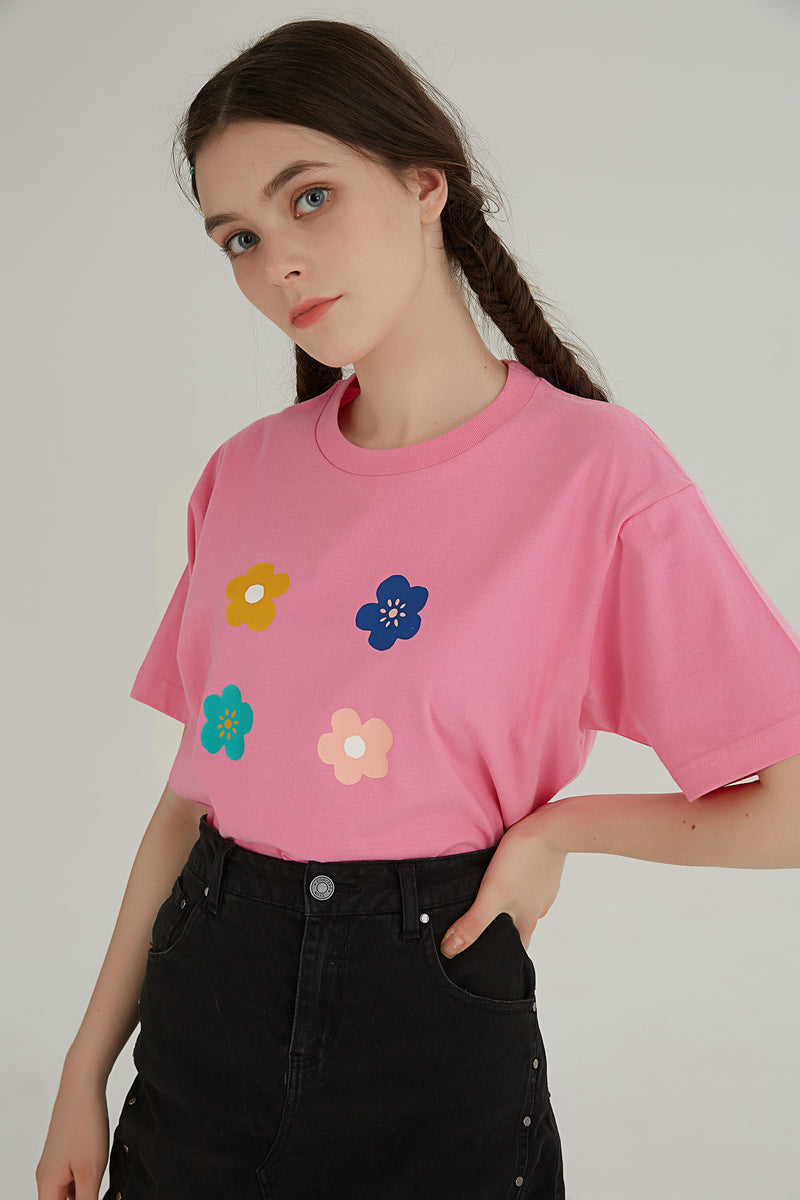 Bouquet T-Shirt - Pink