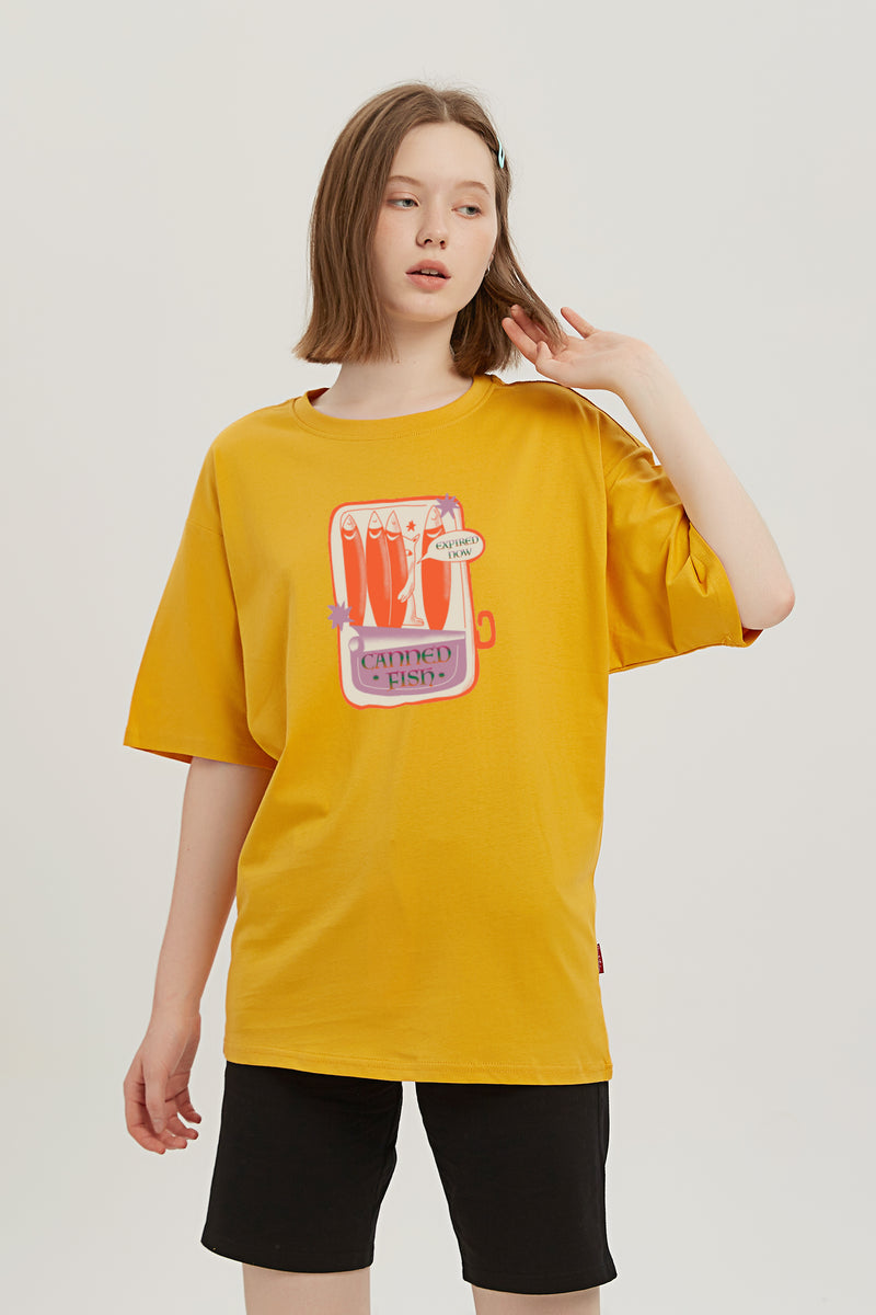 Expired Fish T-Shirt - Mango Yellow