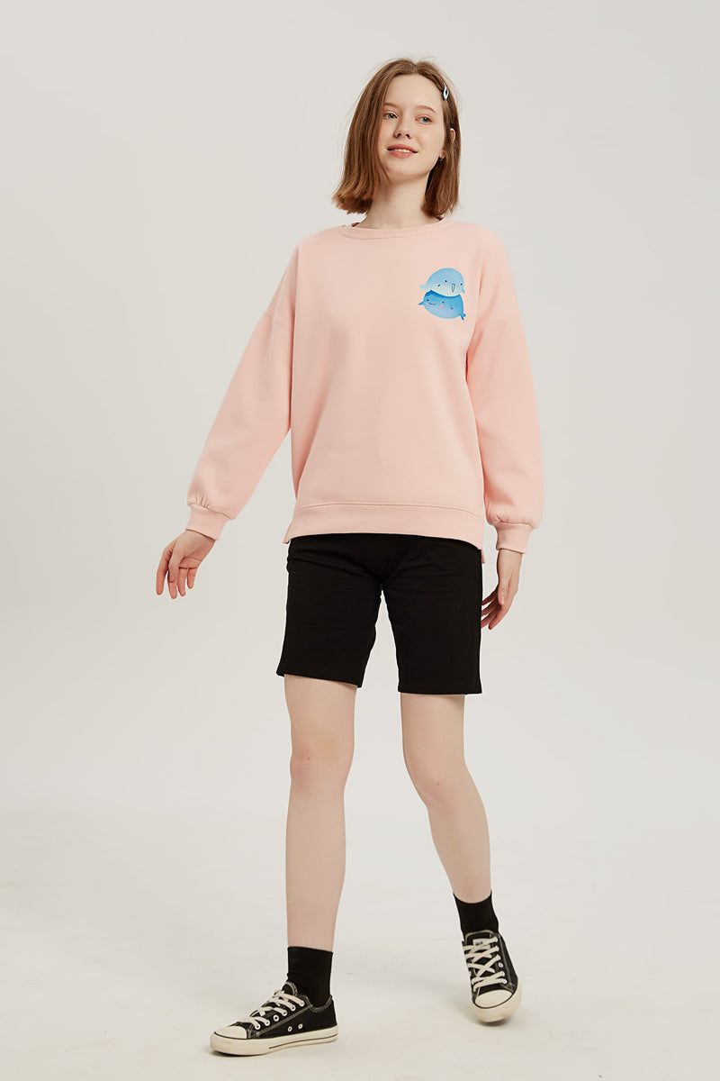 Over-Whale-Ming Sweatshirt - Lotus Pink
