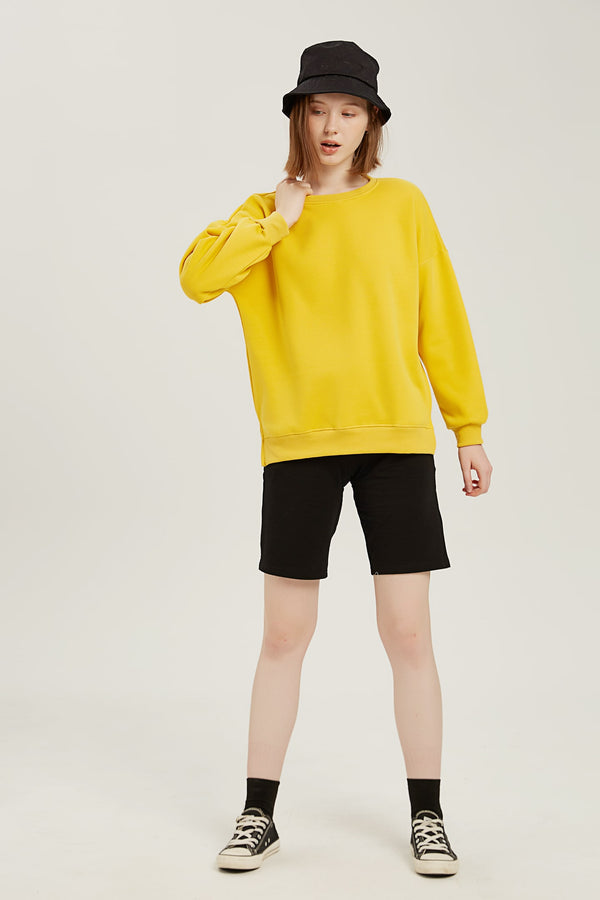Plain Sweatshirt - Mango Yellow