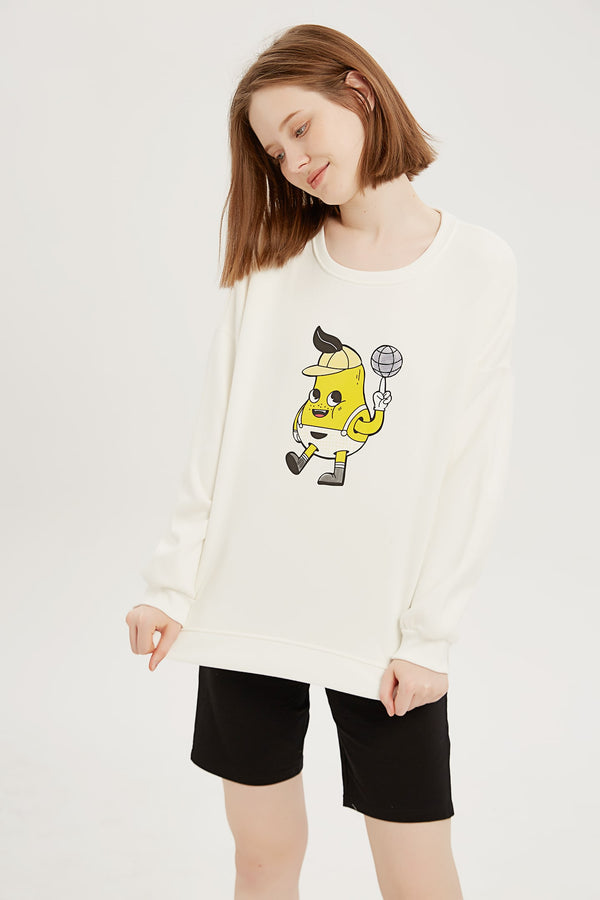 Disco Pear Sweatshirt - Bone White