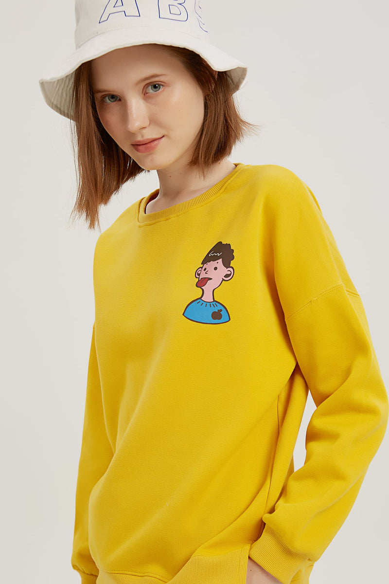 What Color is My Tongue Sweatshirt - Mango Yellow