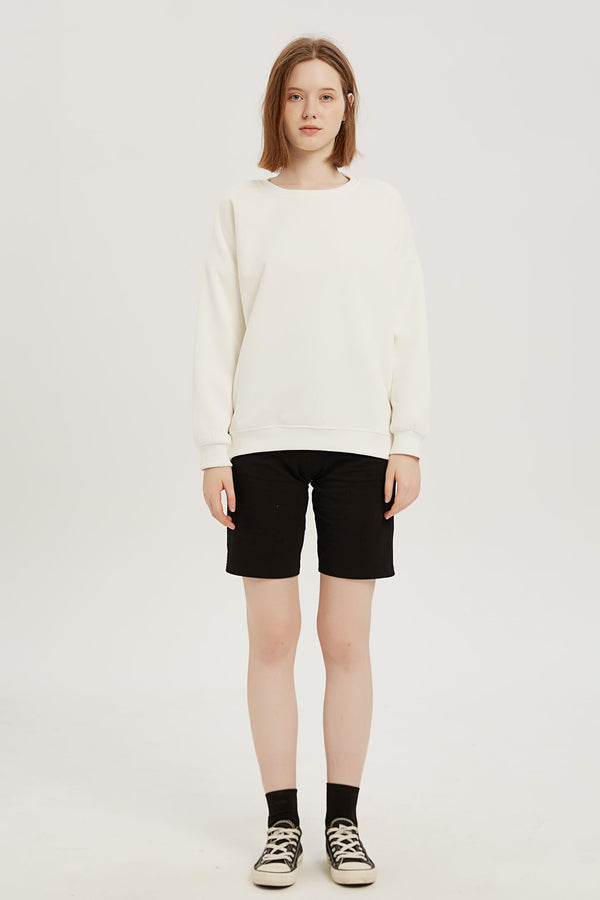 Plain Sweatshirt - Bone White