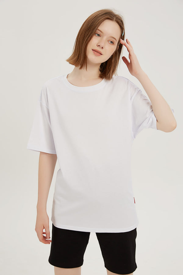 Plain T-shirt - Bone White