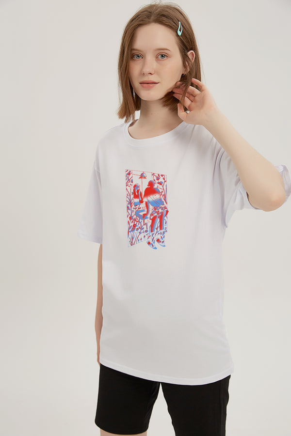Mirror on the Wall T-Shirt - Bone White