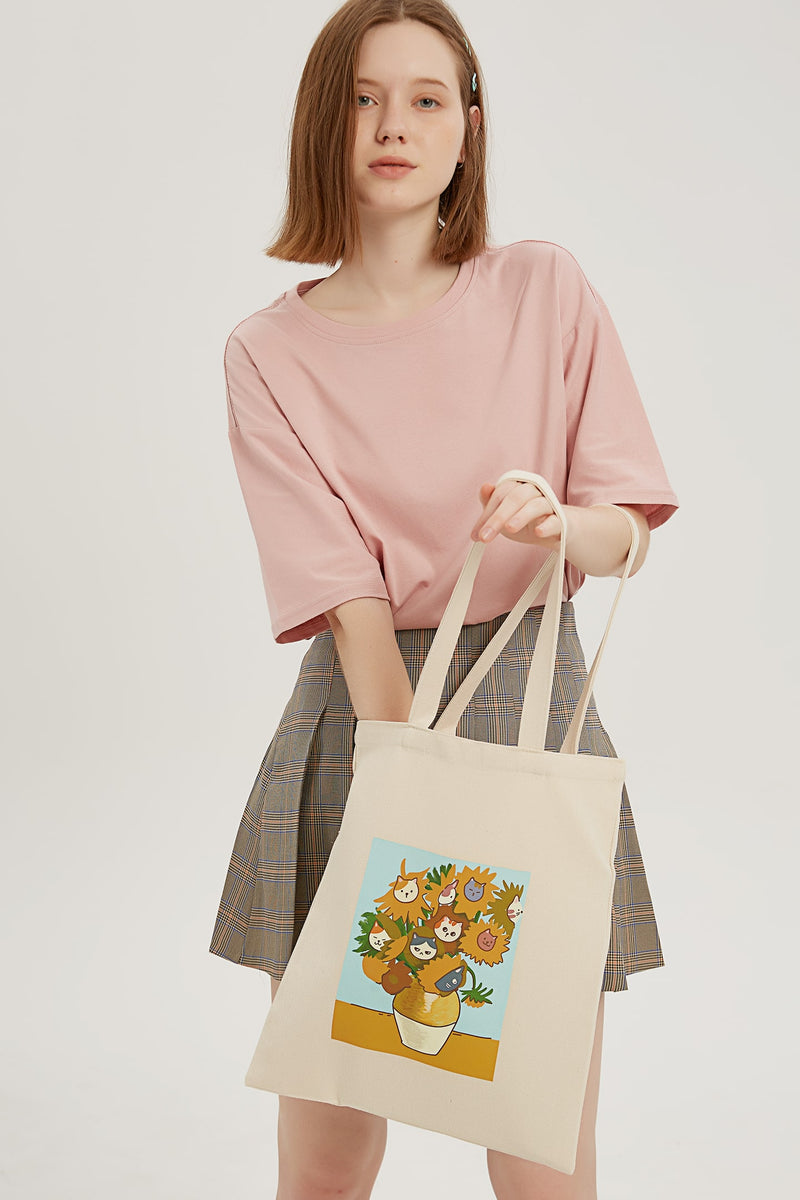 Catflowers Tote Bag