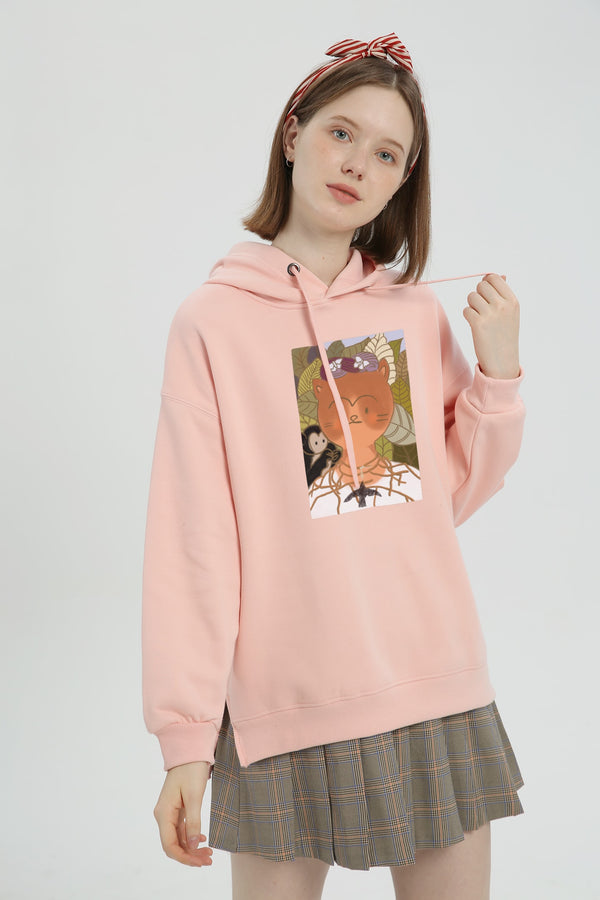 Portrait of My Cat Hoodie - Lotus Pink