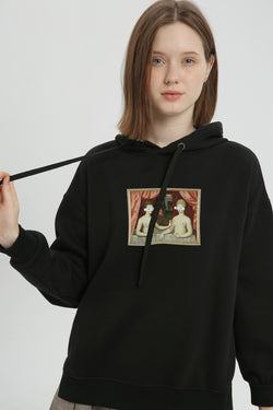 What's Under the Mosaic Hoodie - Charcoal Black