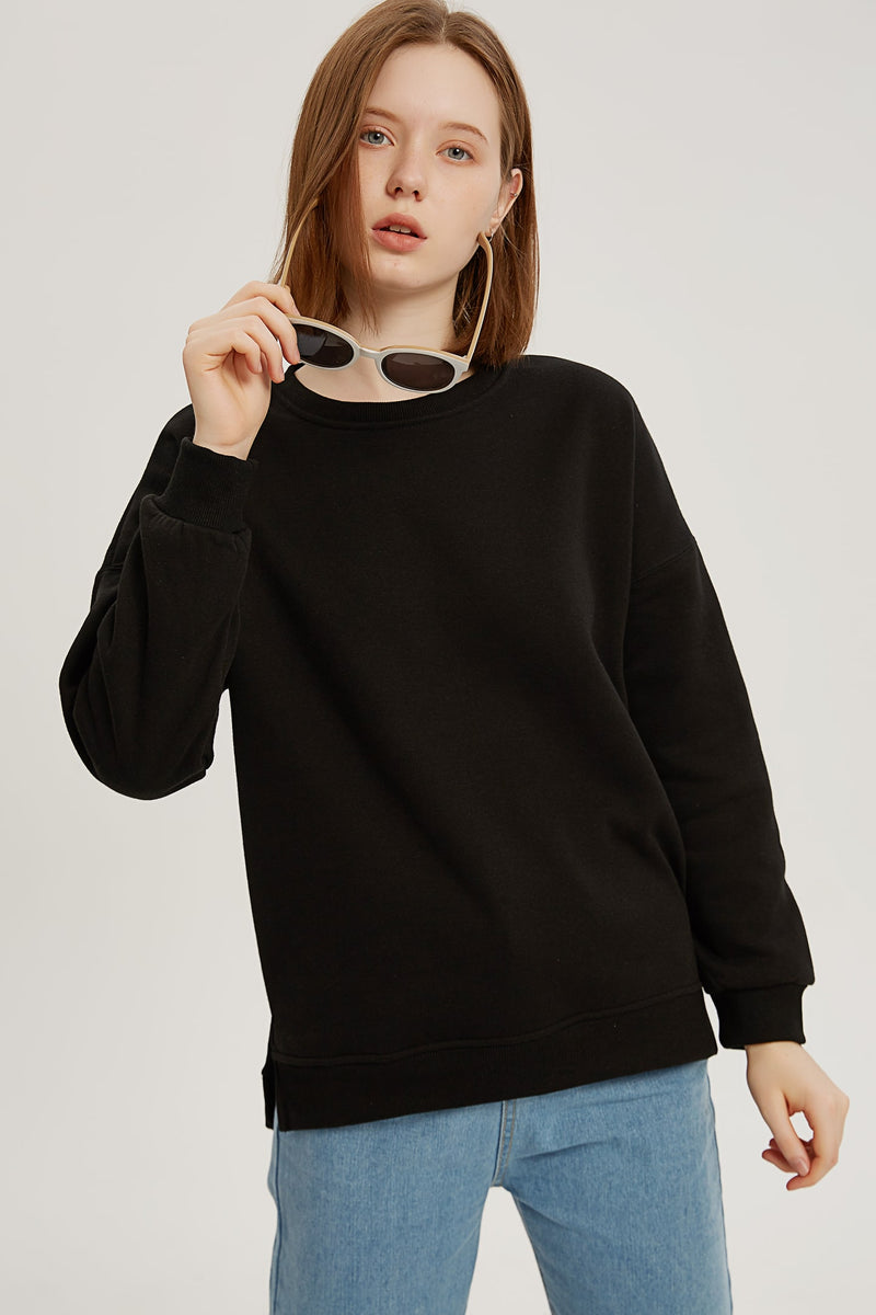 Plain Sweatshirt - Charcoal Black