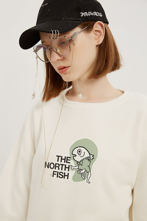 The North Fish Sweatshirt - Bone White