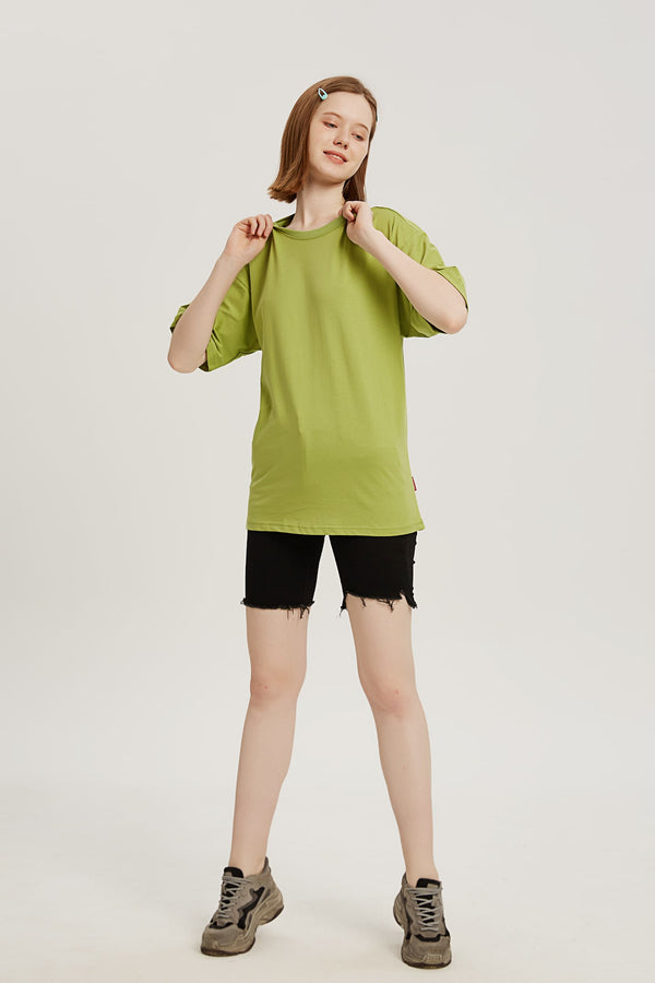 Plain T-shirt - Matcha Green