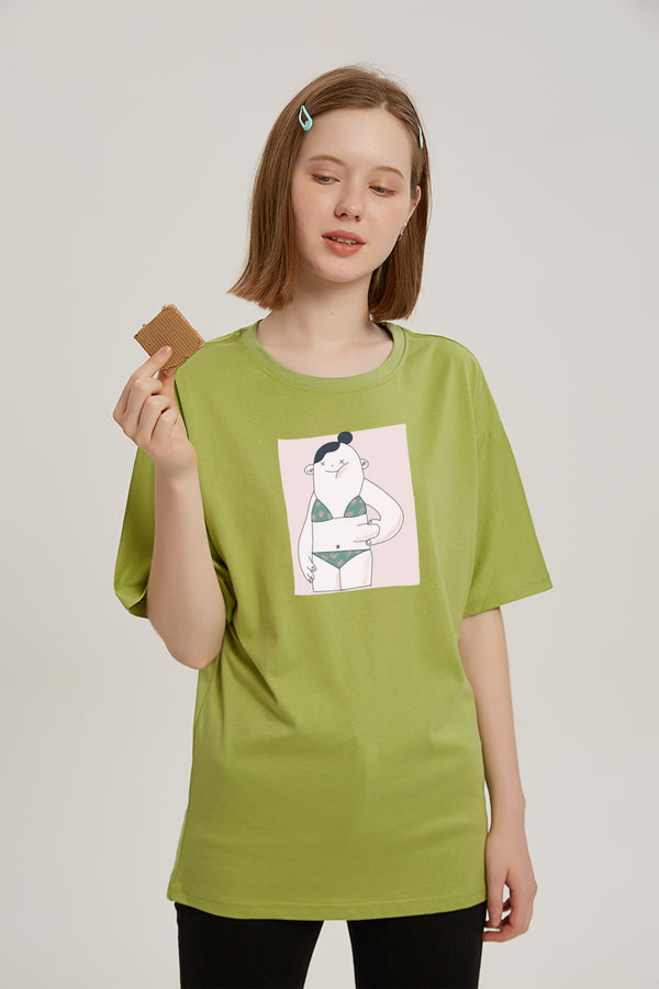 The Body Fat Pinch T-Shirt - Matcha Green